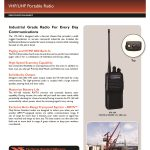 Vertex VX231 Two way radio UHF VHF