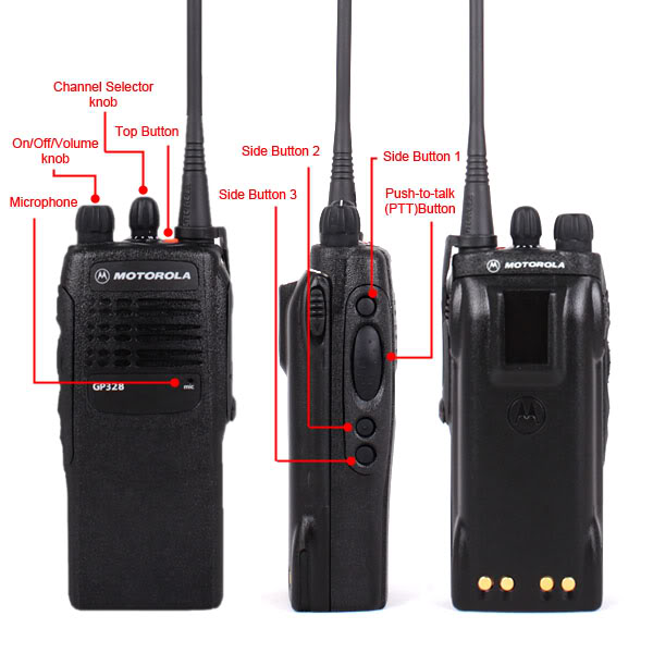 Motorola GP328 Portable two way radio VHF UHF