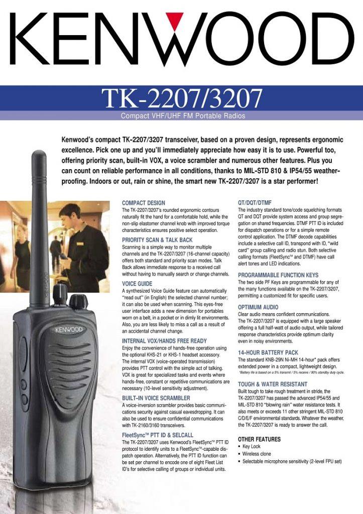 Kenwood TK-2207 TK-3207