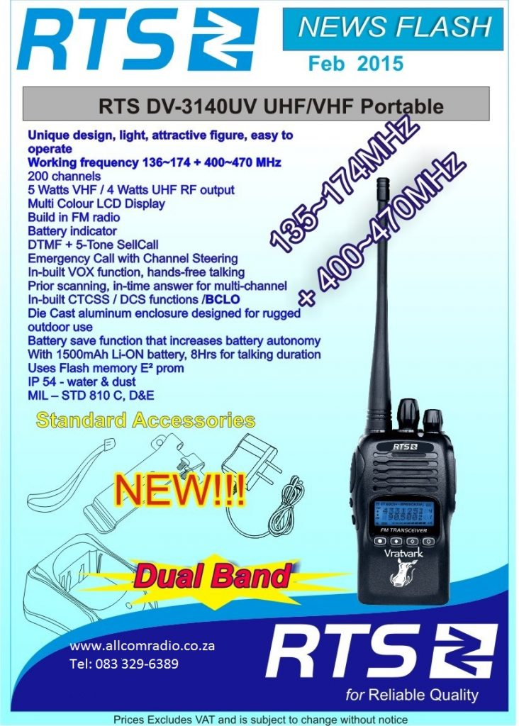 DV3140 Dual band UHF VHF two way Radio Vratvark2 Vratvark 2