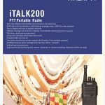 Kirisun italk 200 portable GPRS Smart PTT two way radio