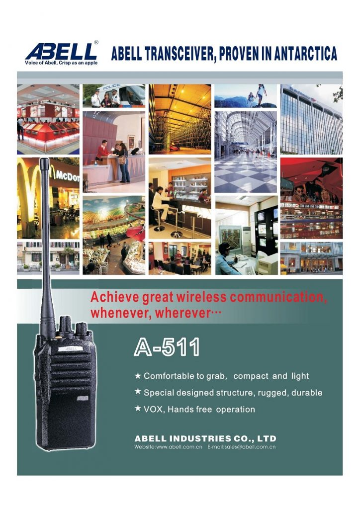 Abel A-511 A511 Two way radio UHF or VHF