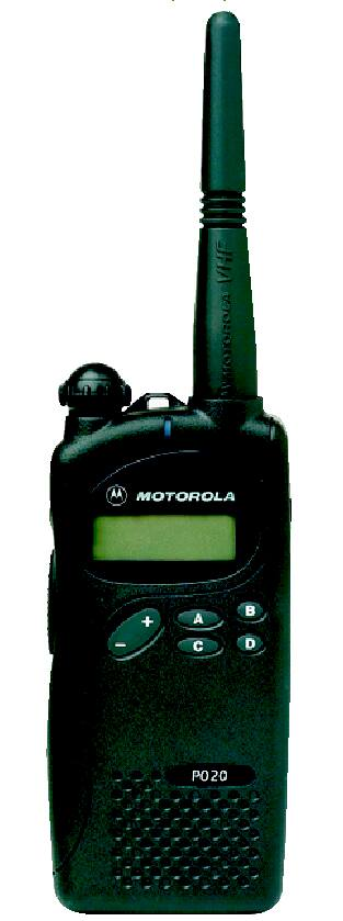 Motorola P020 P030 Alpha series UHF or VHF two way radio