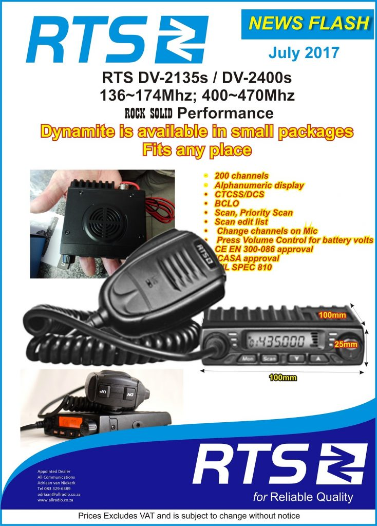 RTS_DV2400s All Communications UHF